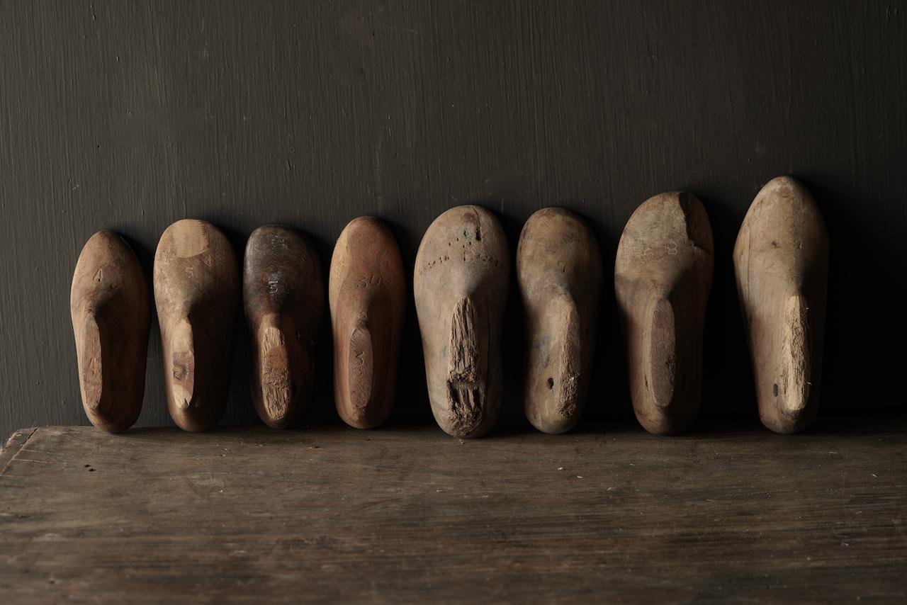 Oude houten Kinder schoen leesten-2