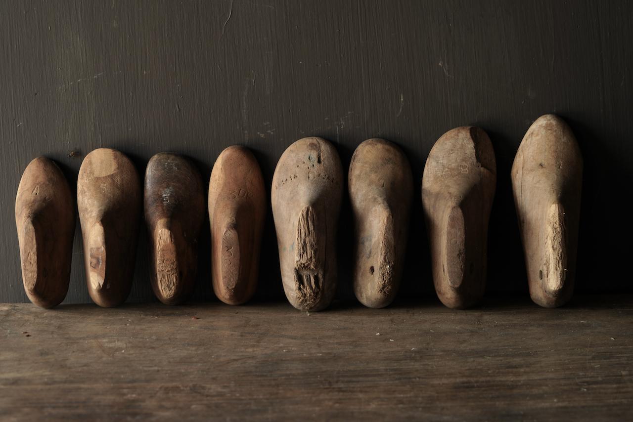 Oude houten Kinder schoen leesten-4
