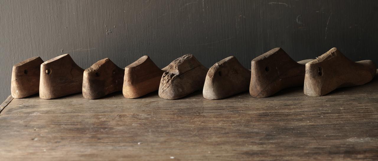 Oude houten Kinder schoen leesten-5