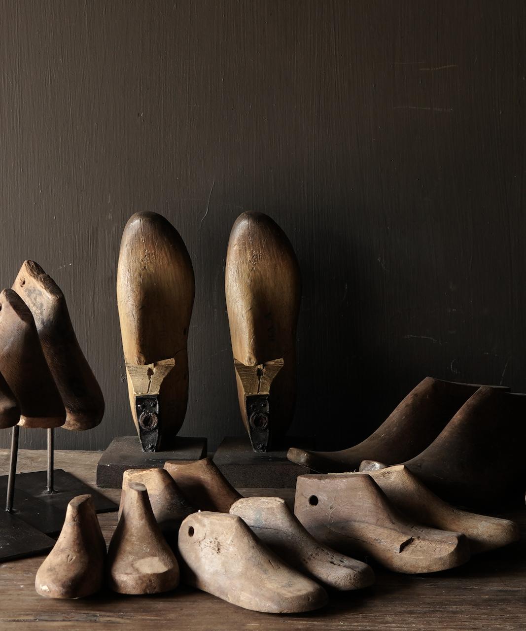 Oude houten Kinder schoen leesten-1