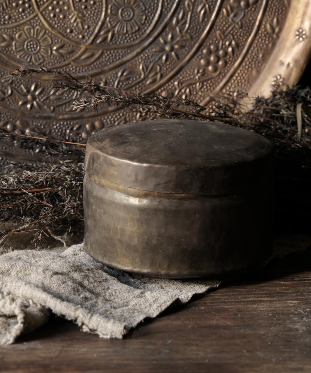 Oud antiek koperen blikje-1