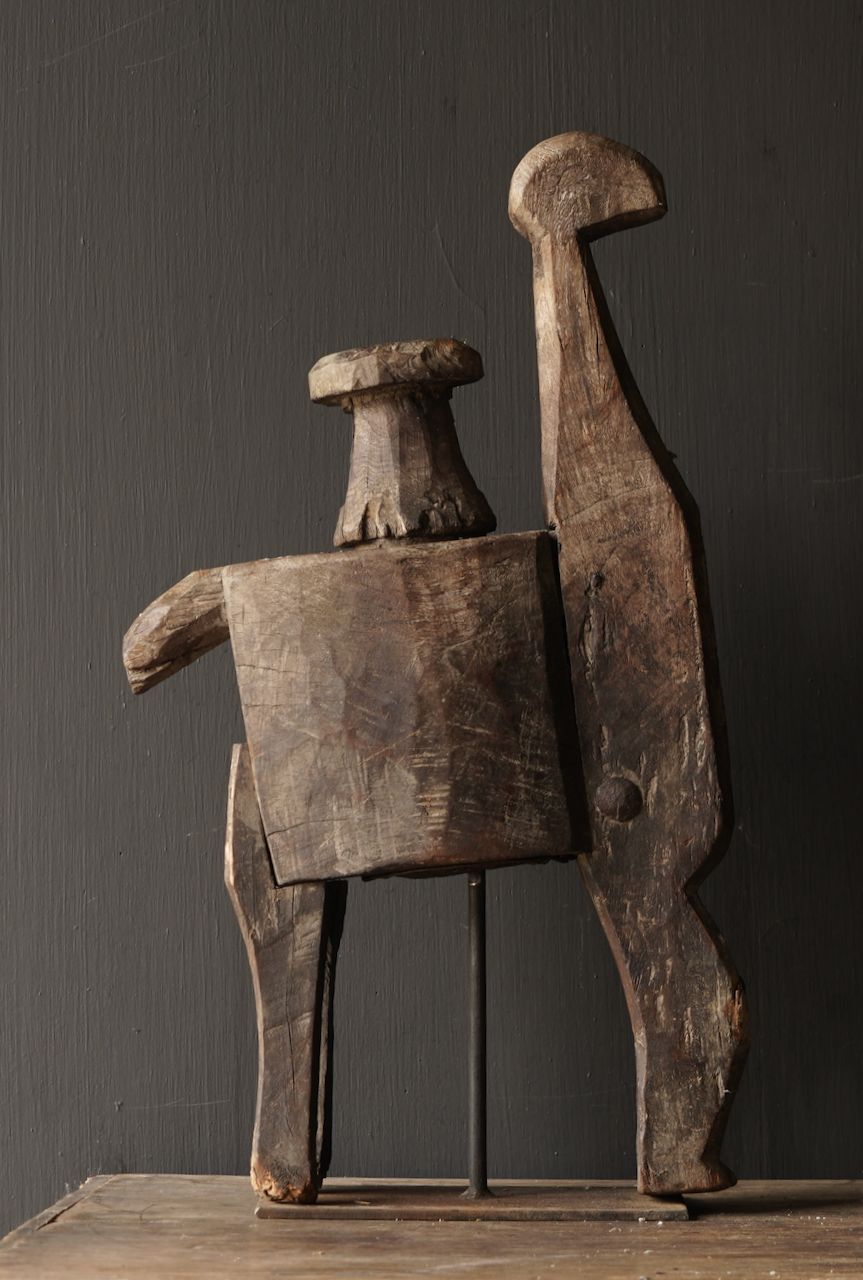 Antique wooden handmade press from India-5
