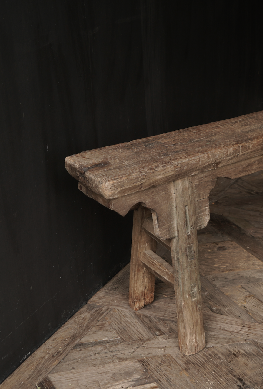 Authentic old wooden bench-4