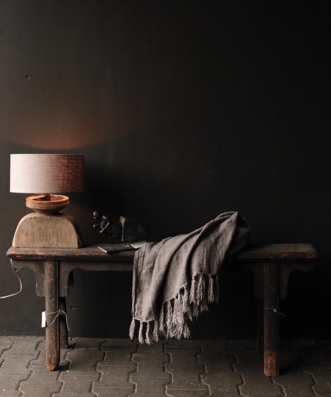Tafellampje  van oud houten ornament-6