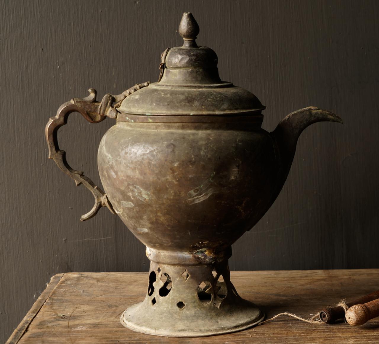 Ottoman tin / copper antique jug-2