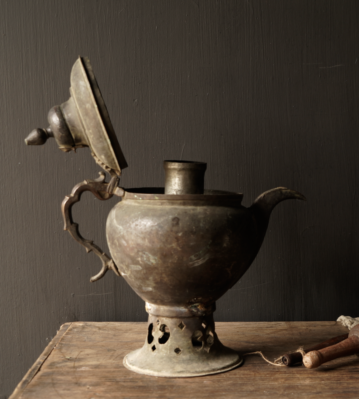 Ottoman tin / copper antique jug-3