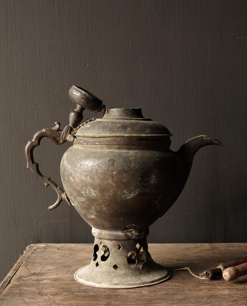 Ottoman tin / copper antique jug-4