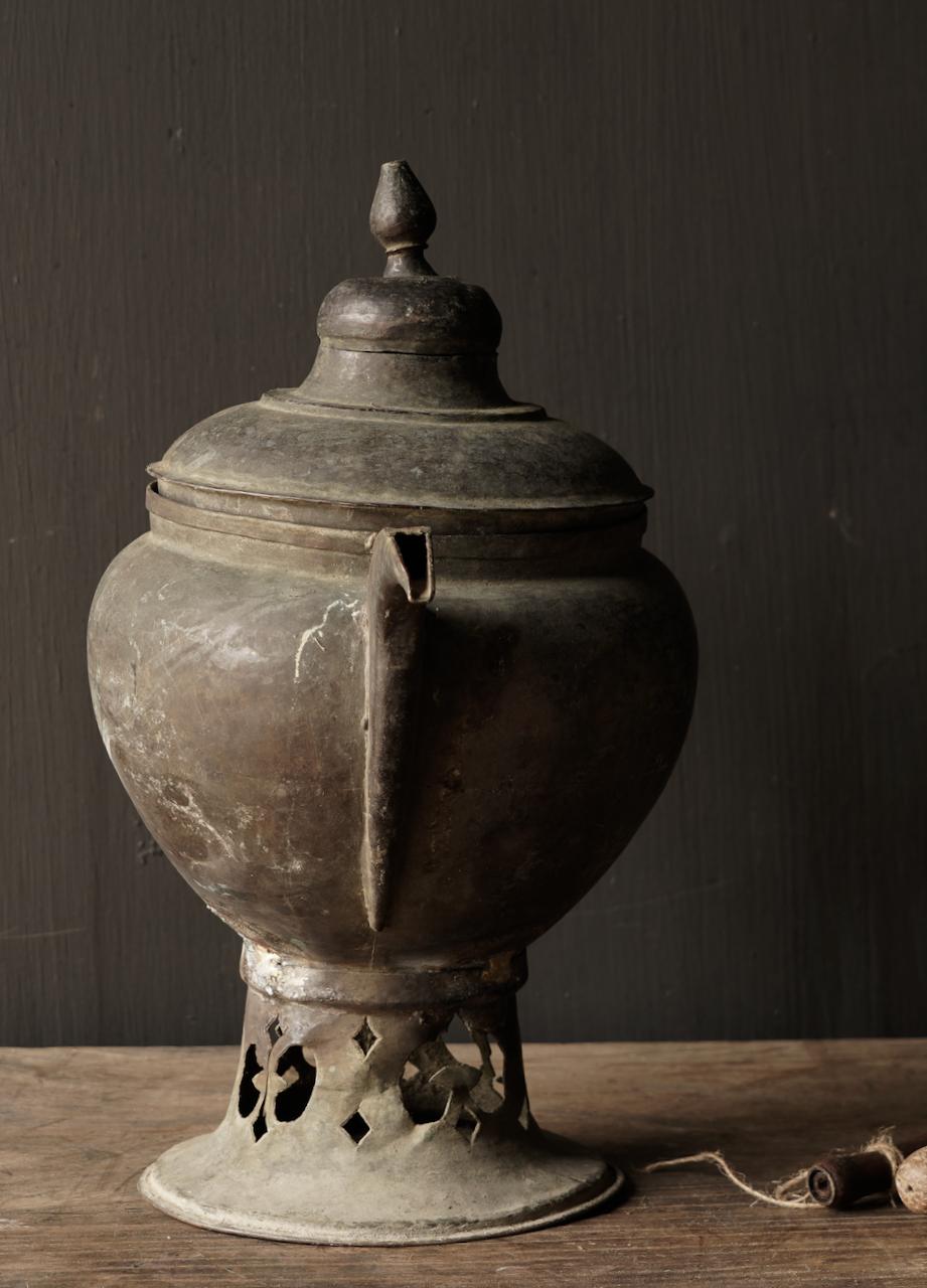 Ottoman tin / copper antique jug-5