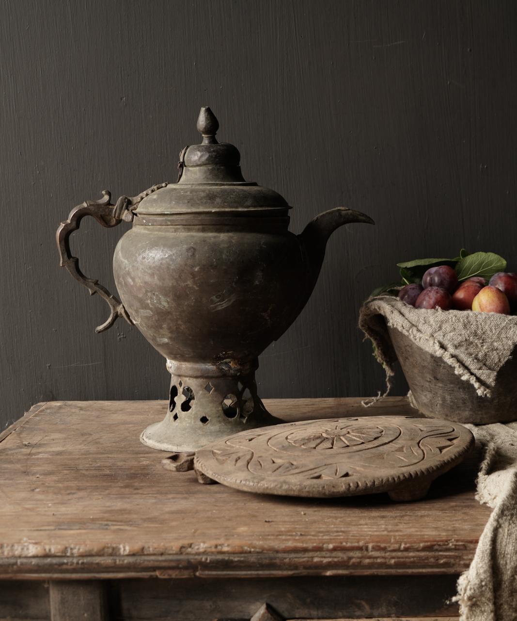 Ottomaanse tin / koperen antieke kan-1