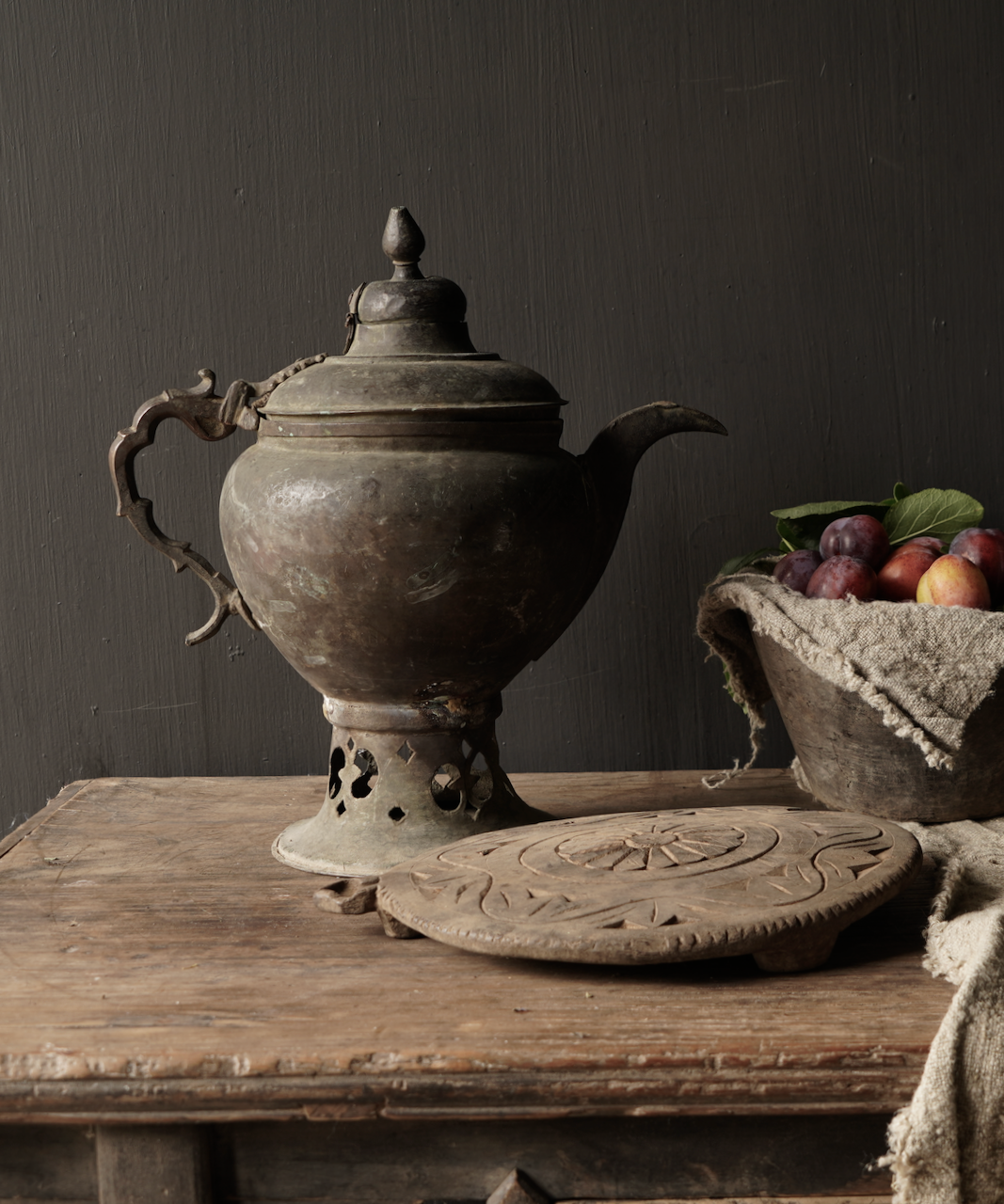 Ottoman tin / copper antique jug-1