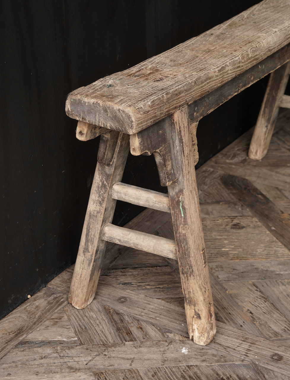 Authentic old wooden bench-3