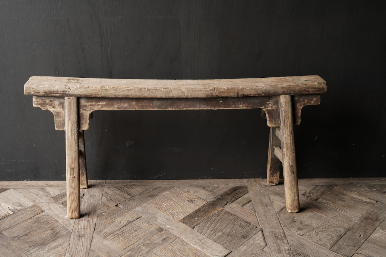 Authentic old wooden bench-5