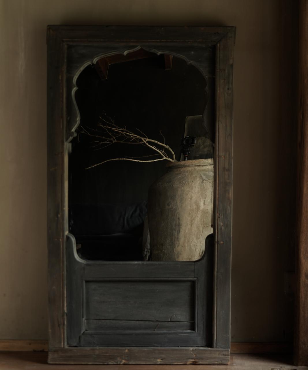 Spiegel gemaakt van oud Authentiek Luik-1