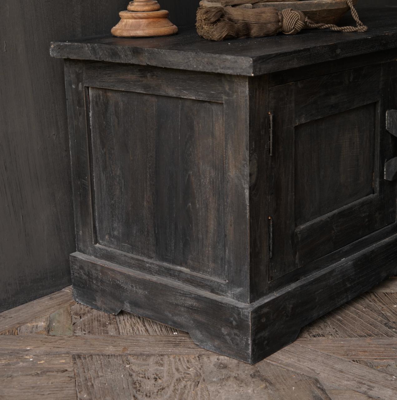 Stoer Tv Meubel / dressoir van oud  hout-5
