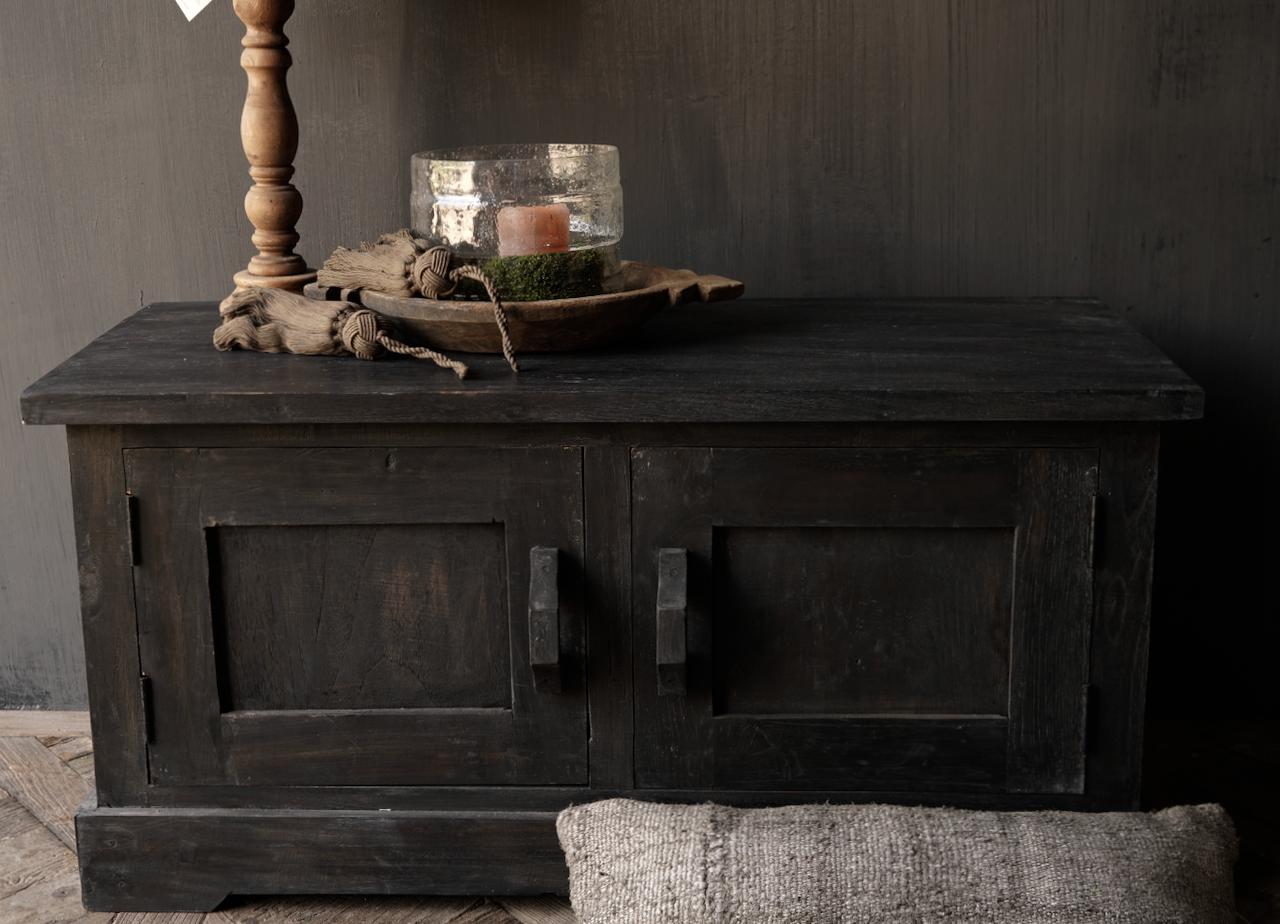 Stoer Tv Meubel / dressoir van oud  hout-8