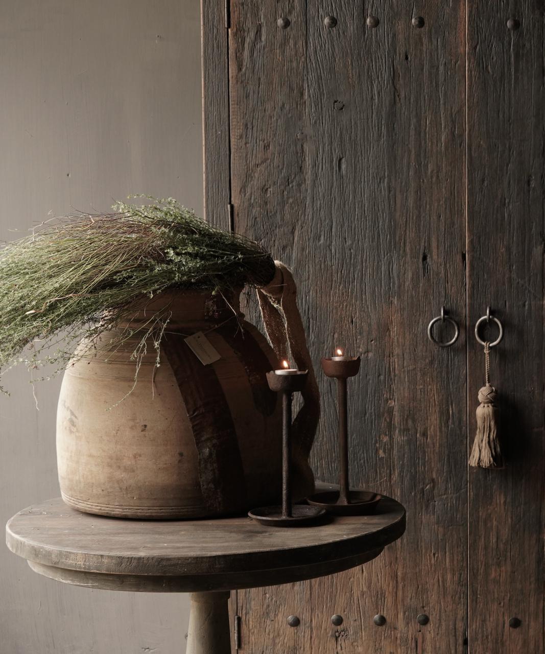 Oud houten nepalese kruik-1