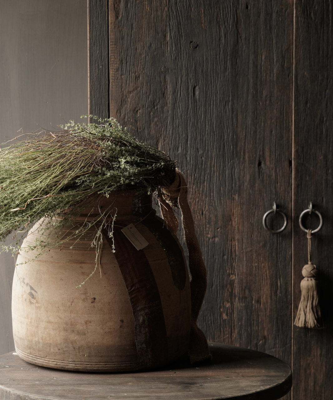 Oud houten nepalese kruik-2