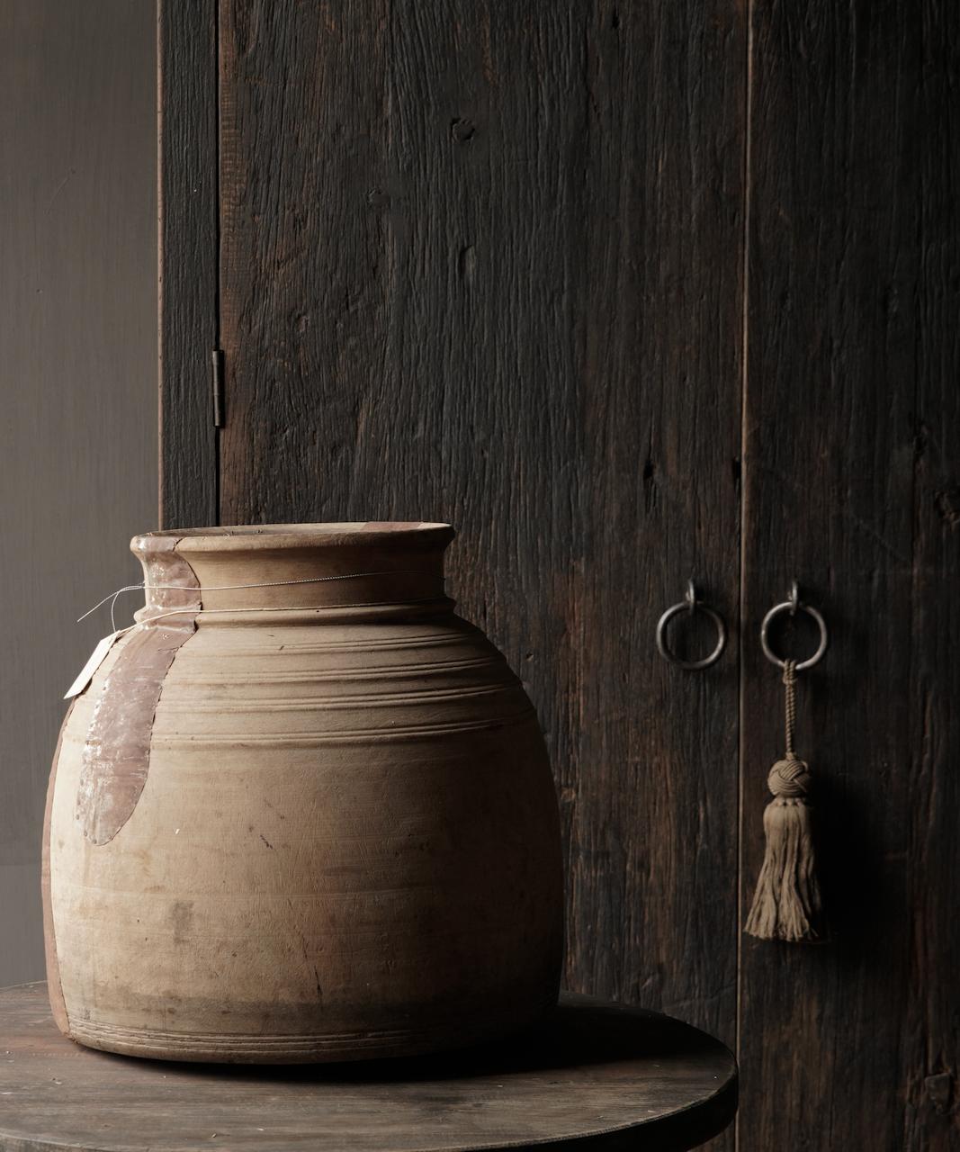 Oud houten nepalese kruik-4