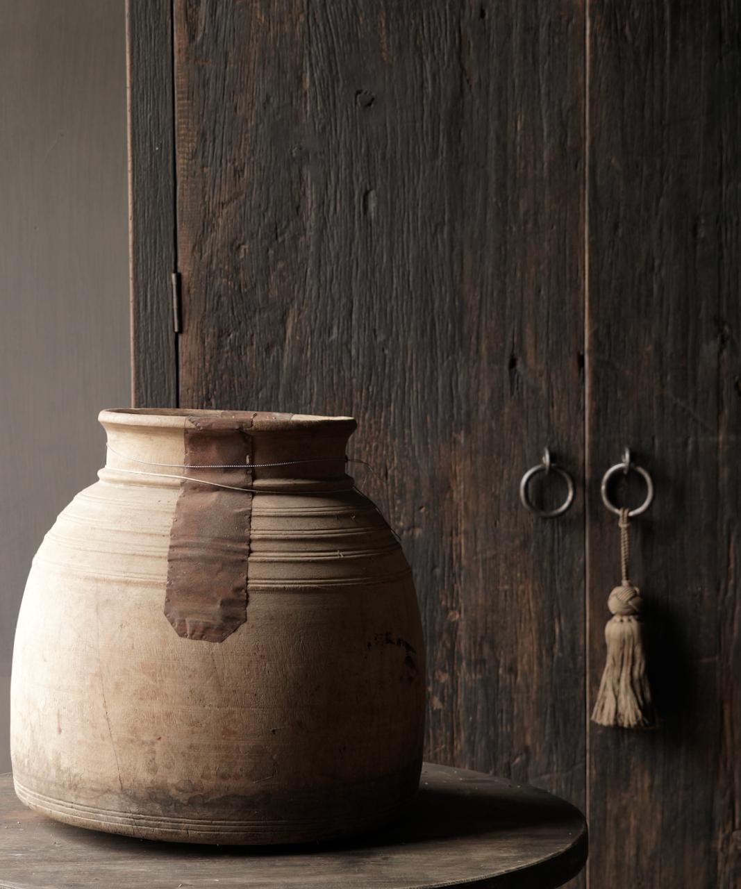 Oud houten nepalese kruik-5