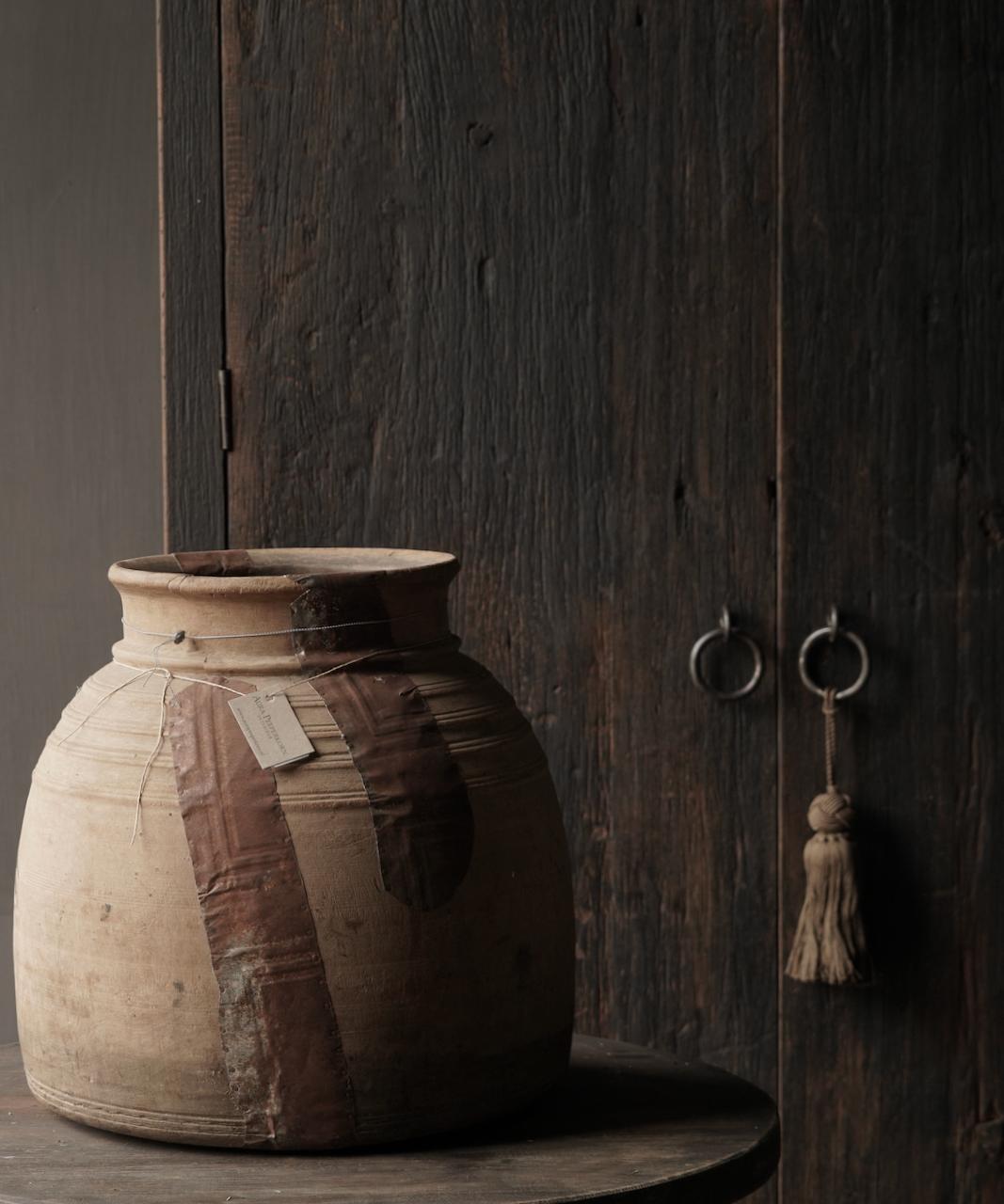 Oud houten nepalese kruik-6