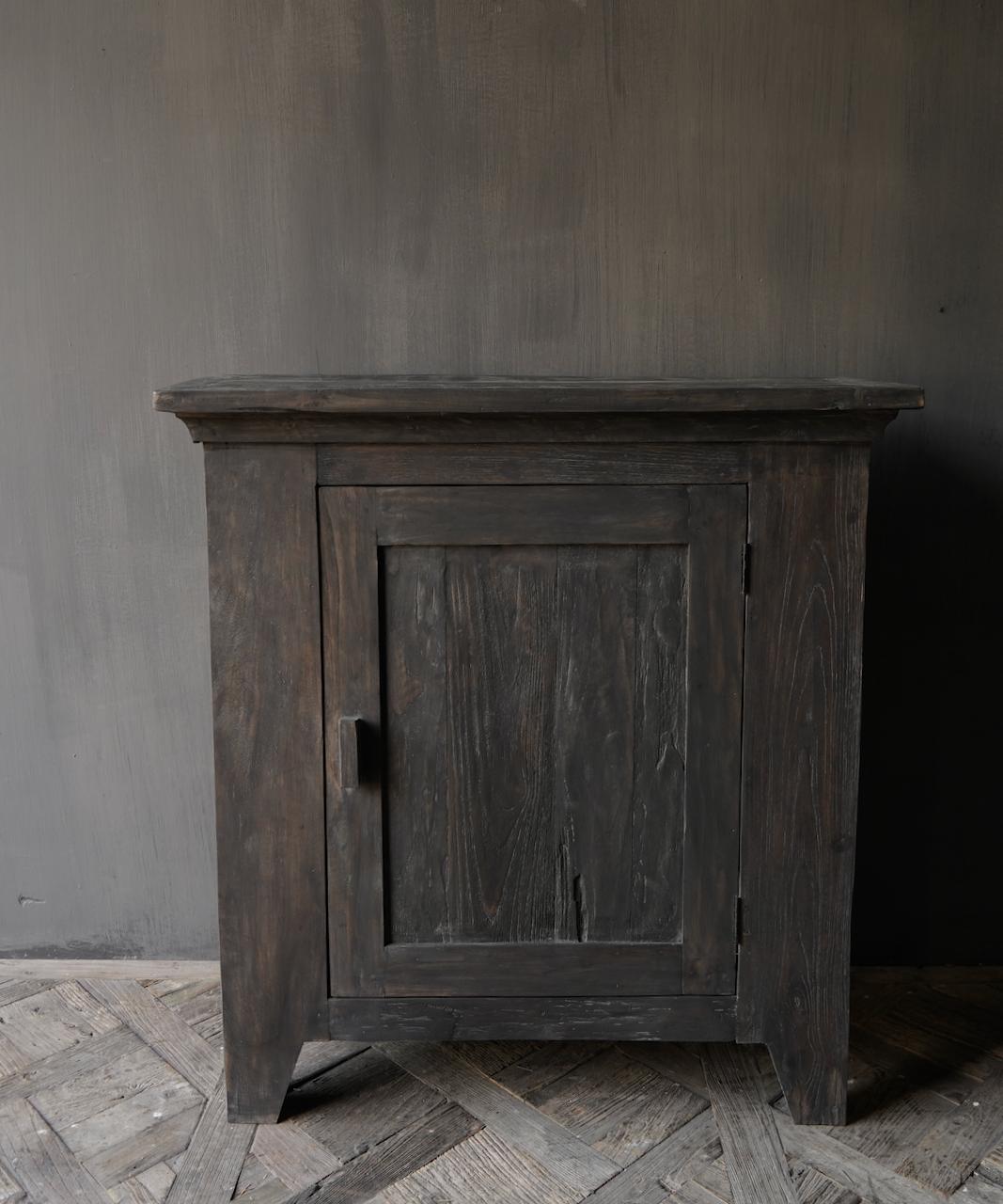 Stoer Landelijk  oud houten kastje-2