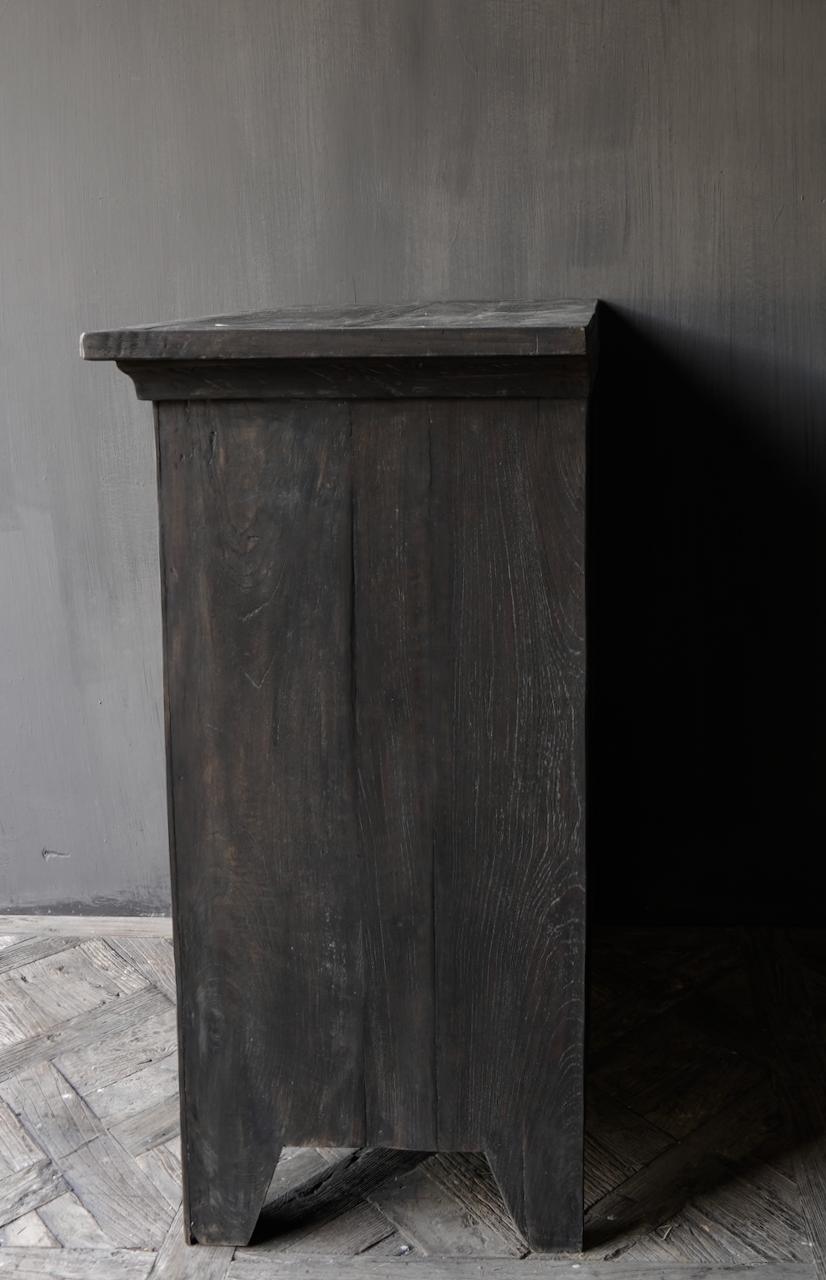 Stoer Landelijk  oud houten kastje-5