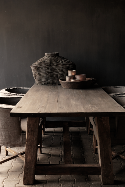 Robuster robuster ländlicher Tisch aus altem Holz 200x100 cm