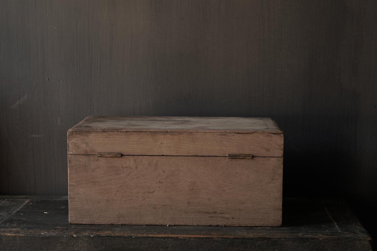 Oude Authentieke houten kistje-5
