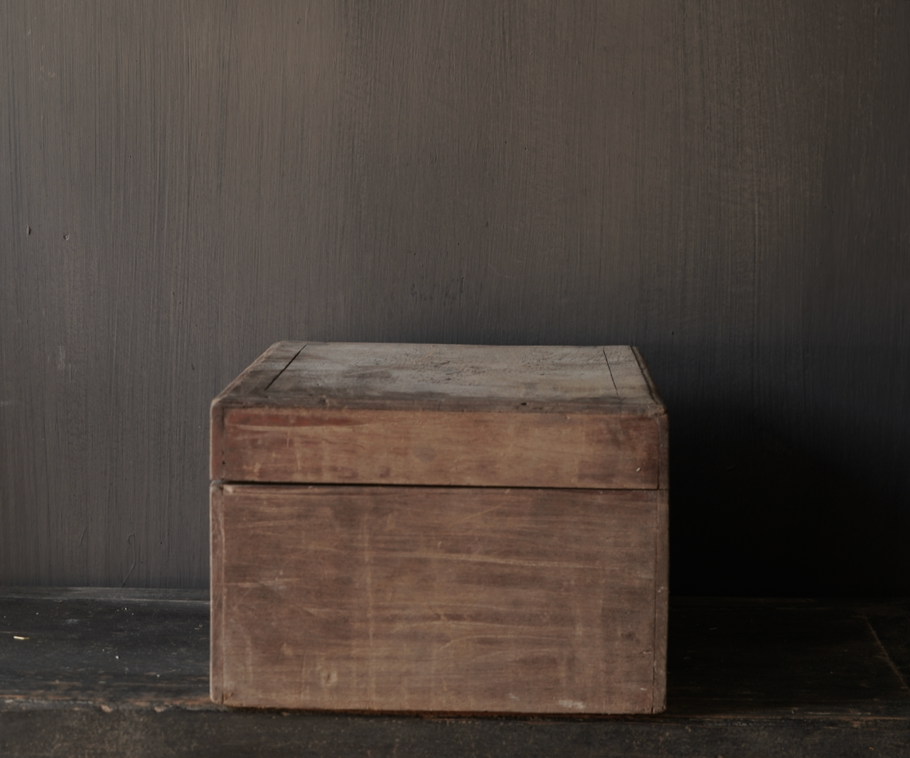 Oude Authentieke houten kistje-6