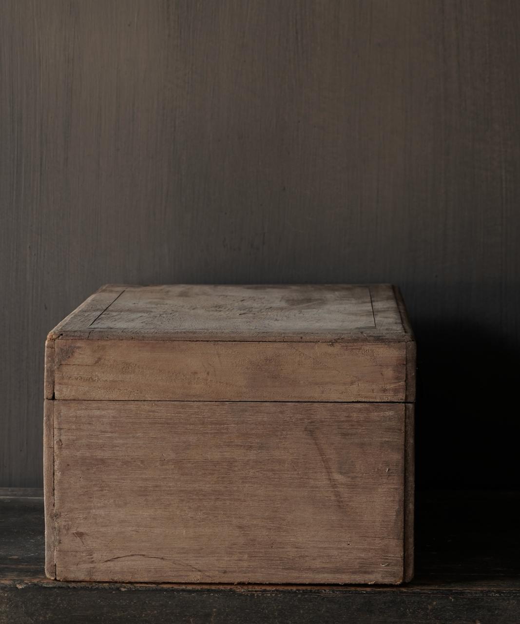 Oude Authentieke houten kistje-7