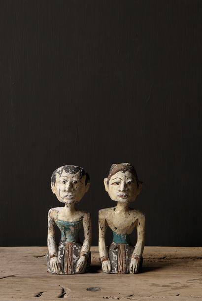 Oud houten Authentiek bruidspaar