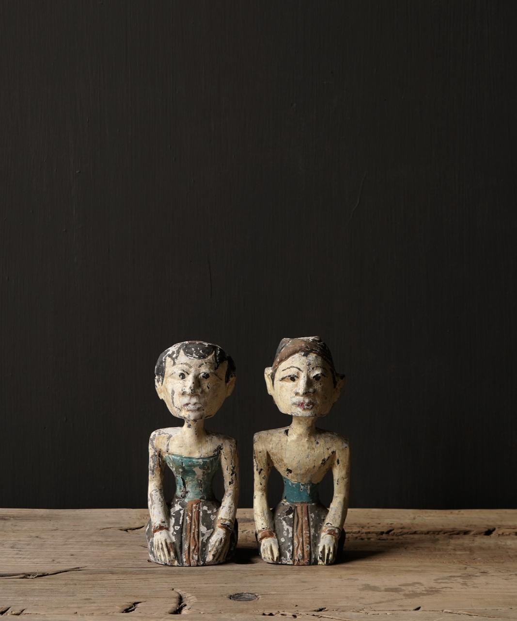 Oud houten Authentiek bruidspaar-1