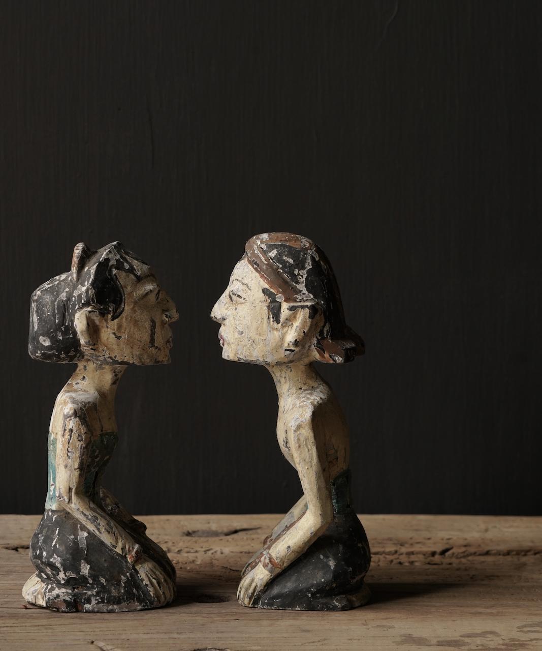 Oud houten Authentiek bruidspaar-3