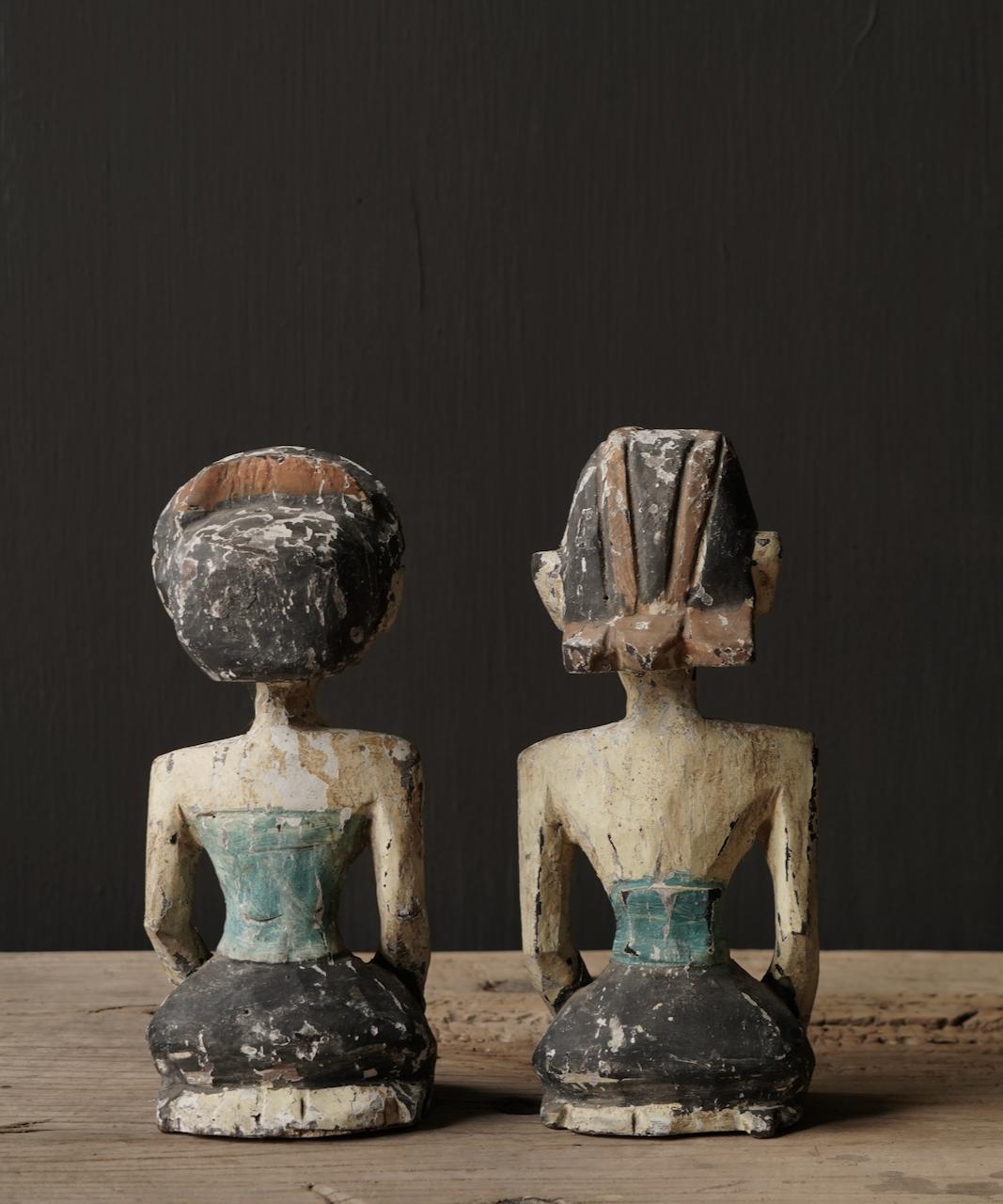 Oud houten Authentiek bruidspaar-4