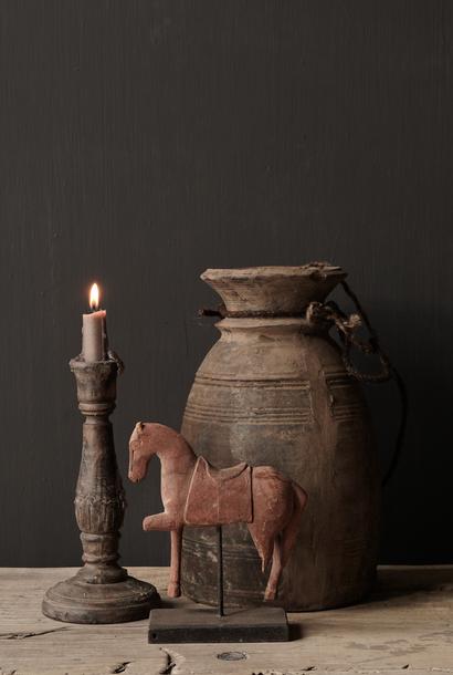 Authentisches einzigartiges Holzpferd auf Ständer