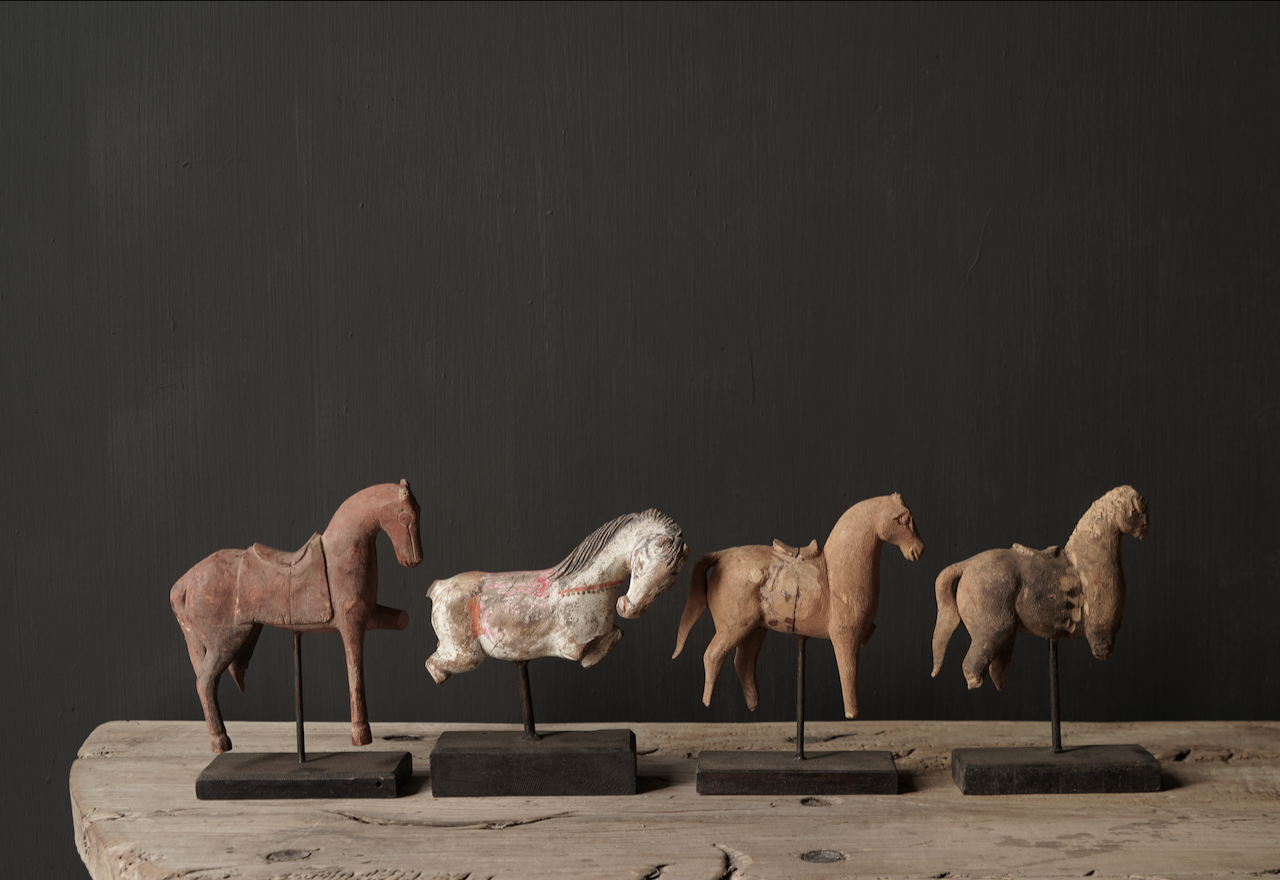 Authentic unique wooden horse on stand-5