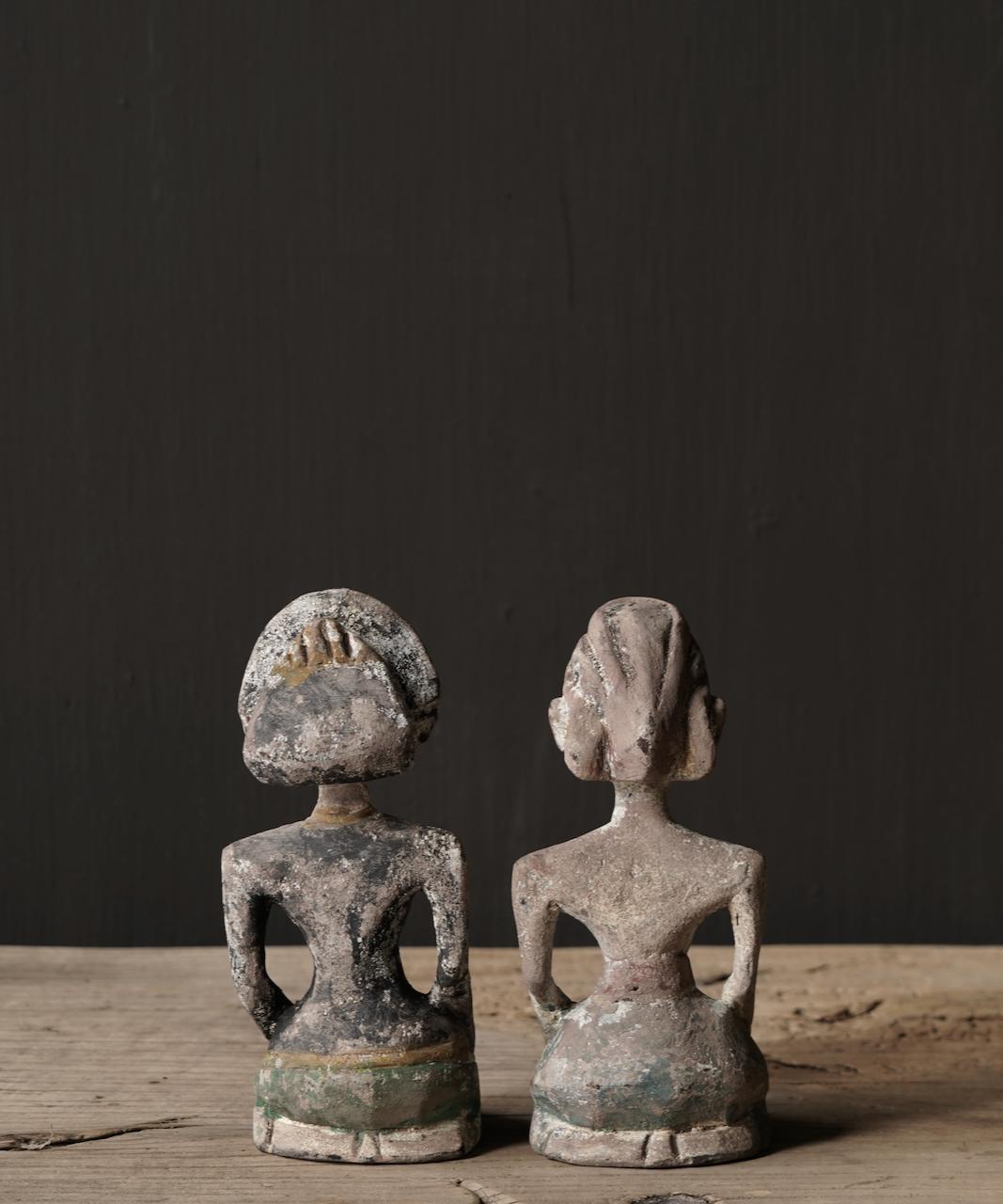 Oud houten Authentiek bruidspaar-2