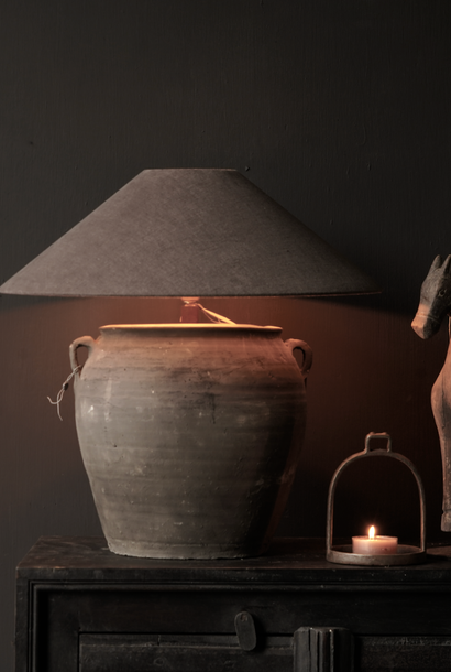 Jug lamp from old water pot
