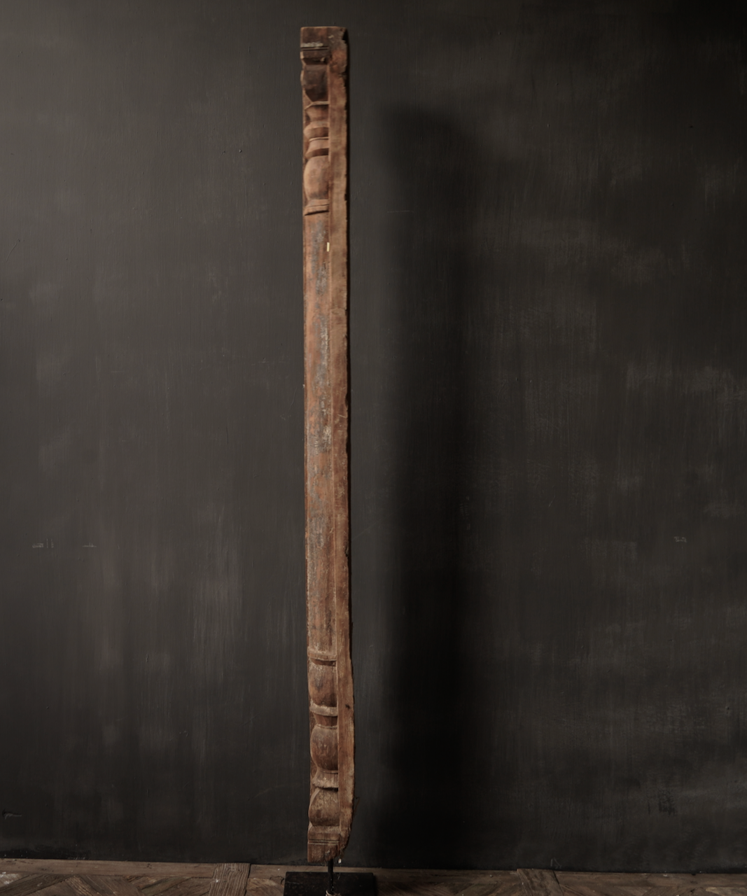 Authentic Indian Wooden pillar on an iron base-7