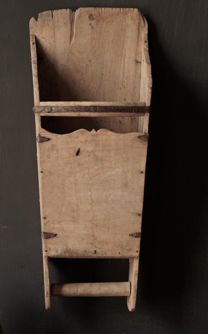 Large old wooden rice shovel / Bake-2
