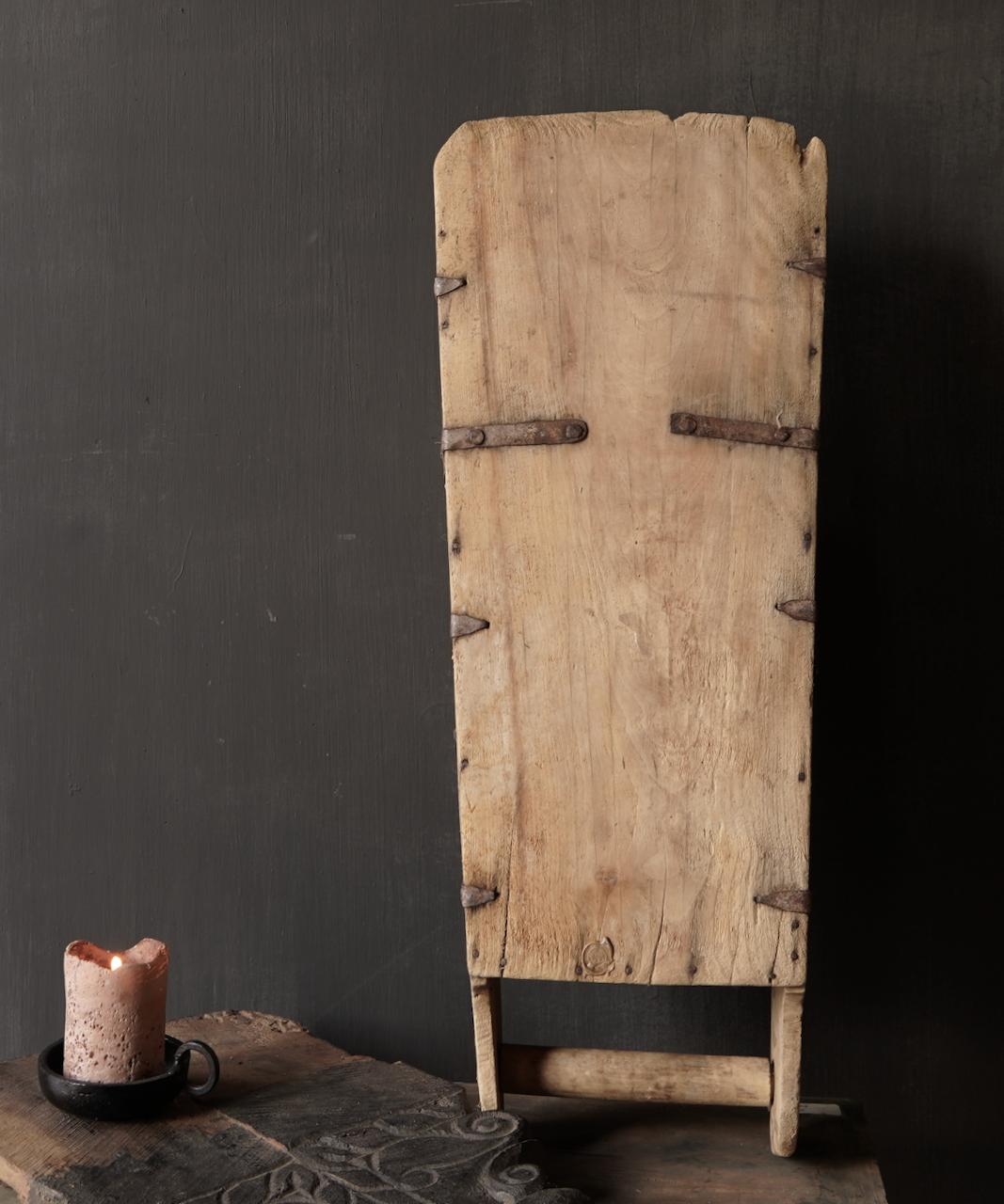 Large old wooden rice shovel / Bake-4