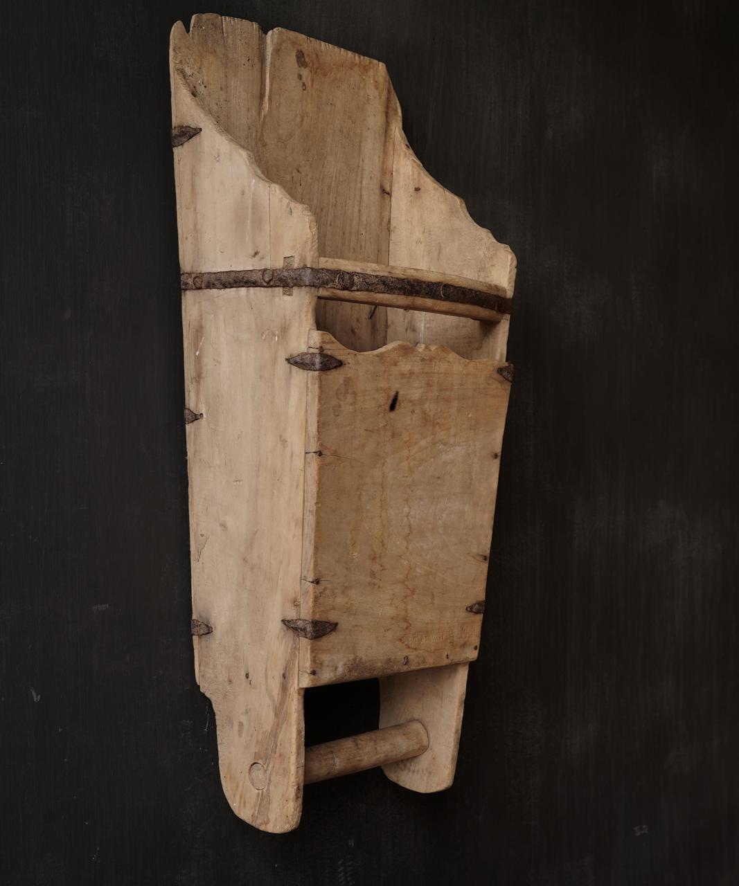 Large old wooden rice shovel / Bake-5