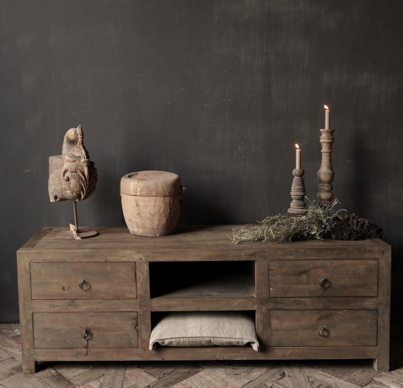 Tv Meubel / dressoir van oud  hout-2