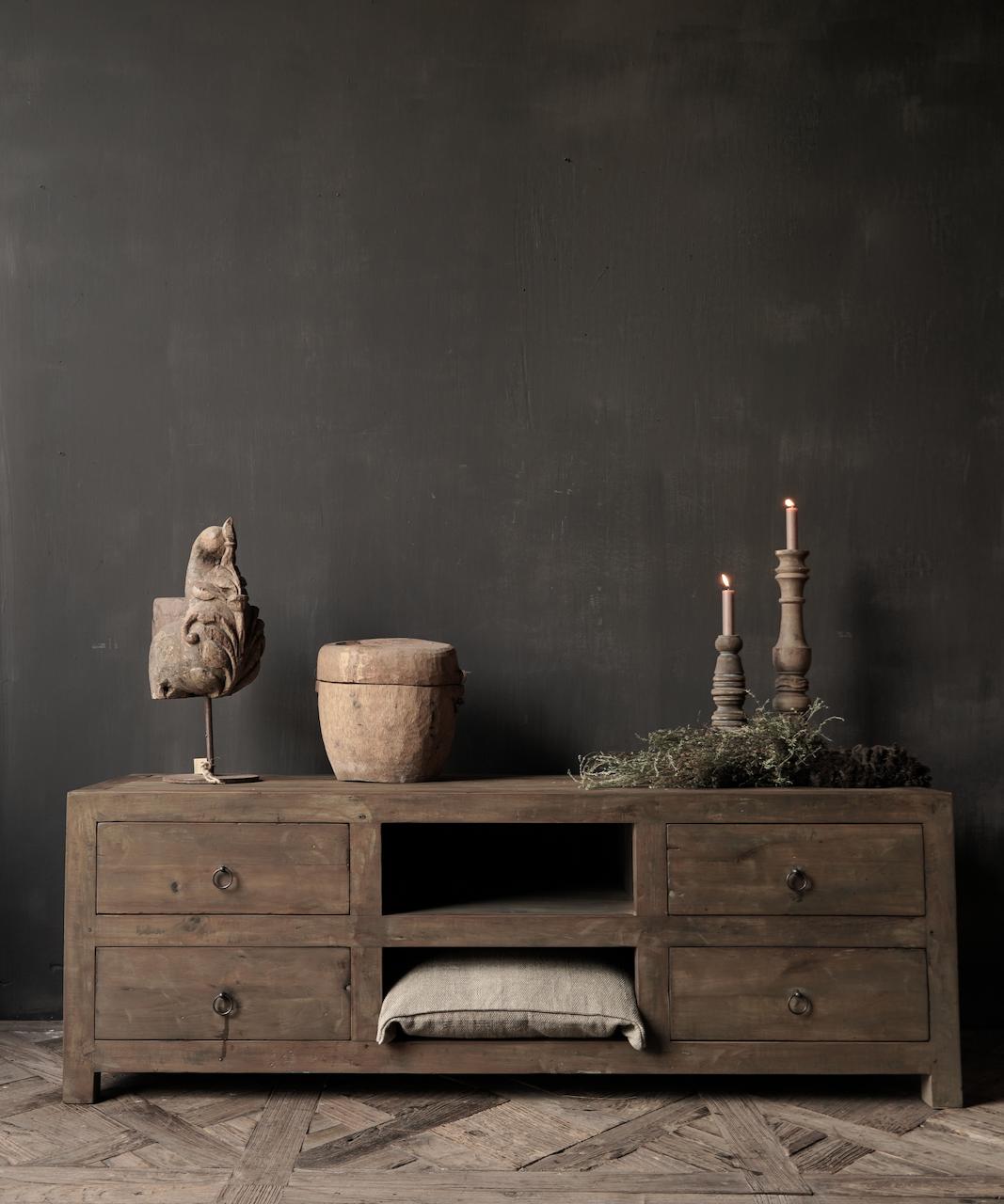 Tv Meubel / dressoir van oud  hout-1