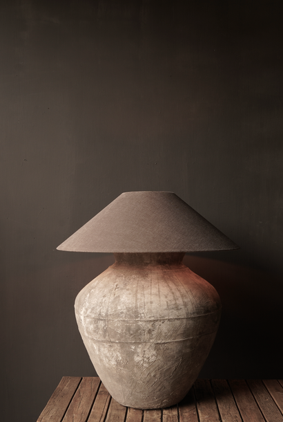 Jug lamp made from an old authentic terracotta Indian water jug - Copy