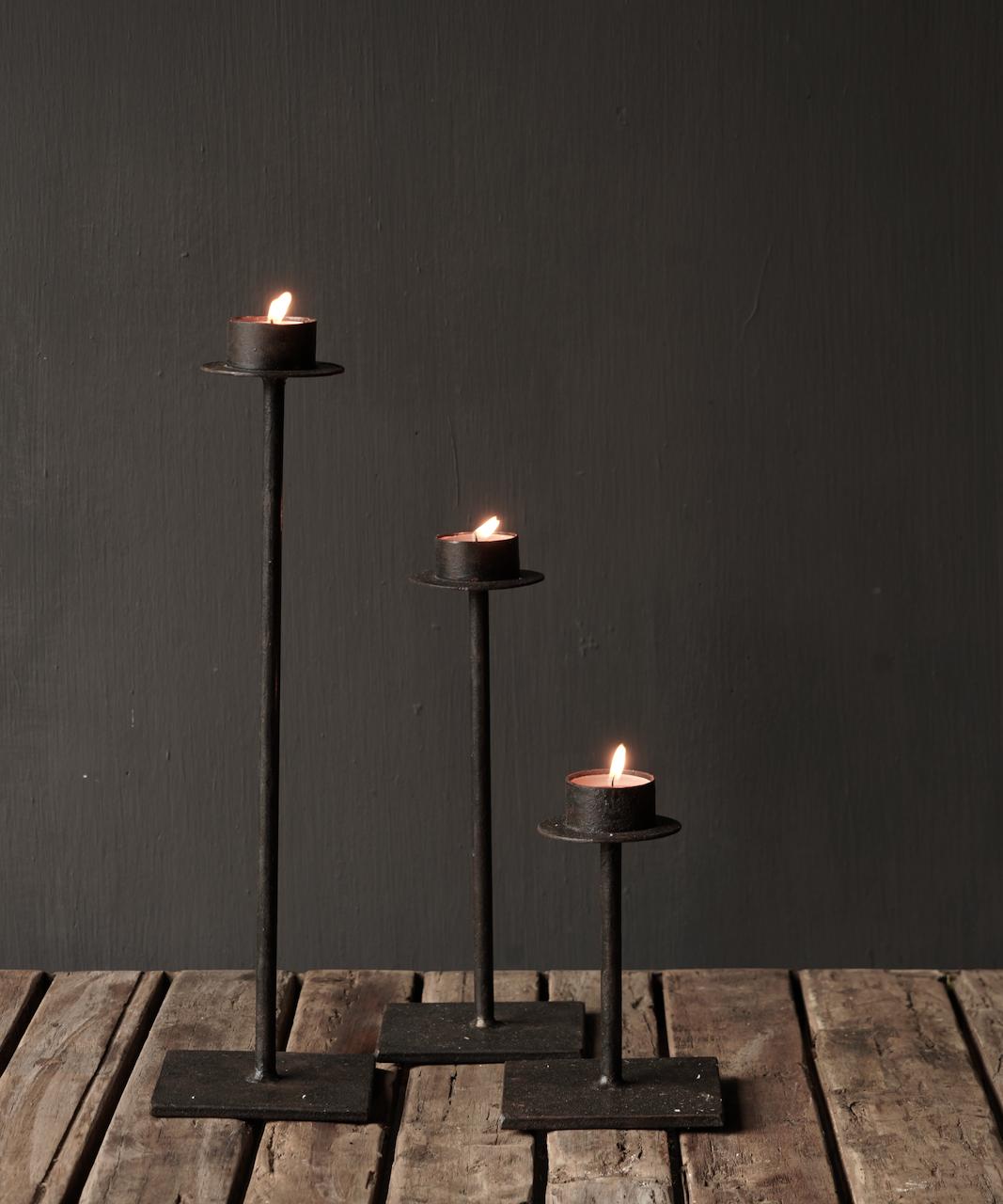 Set of three iron tea holders-2