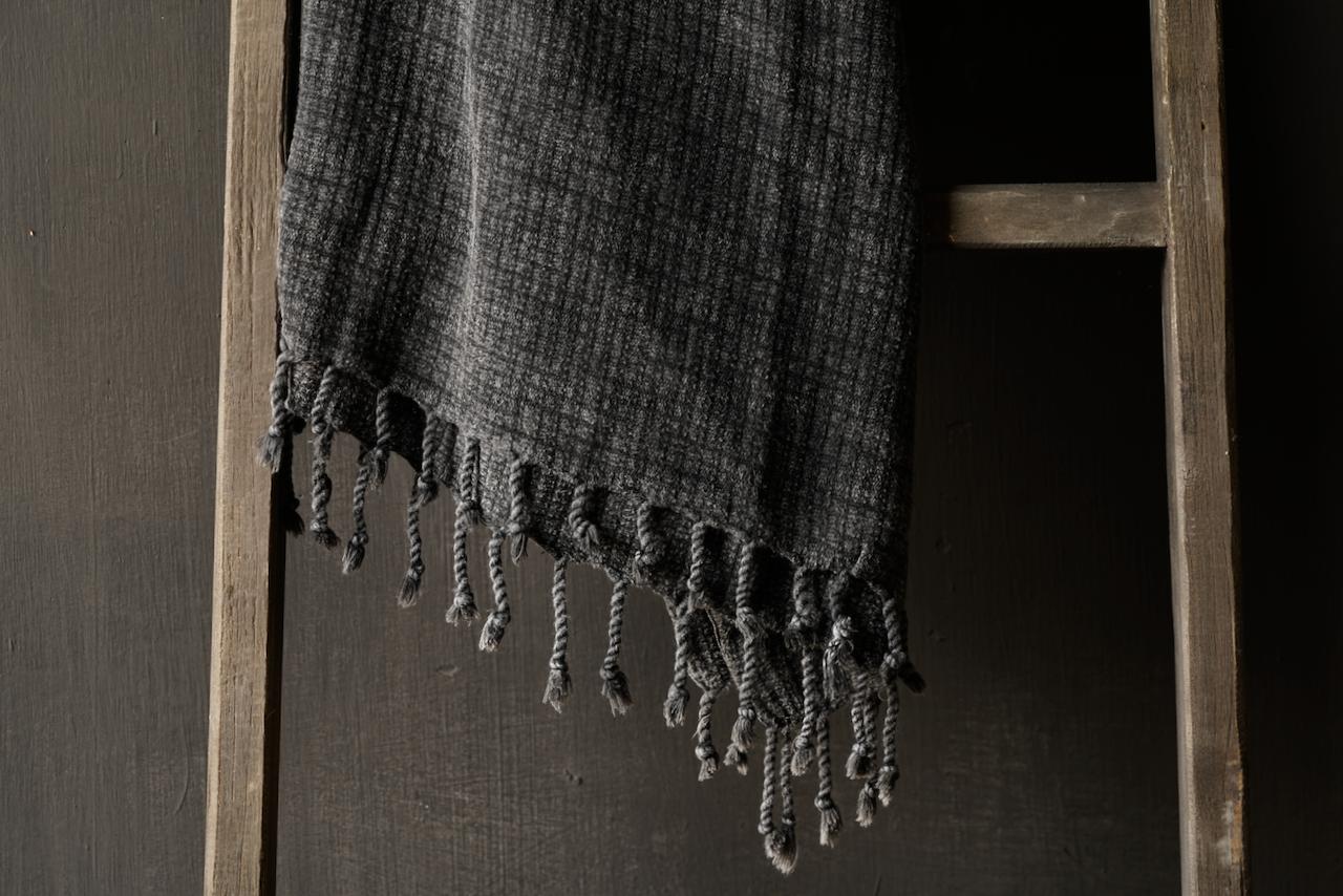 Hammam towel bamboo large anthracite-3