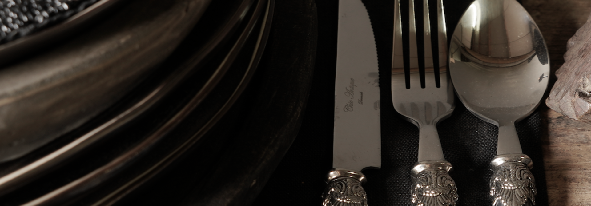 Cutlery 4-piece set vintage design