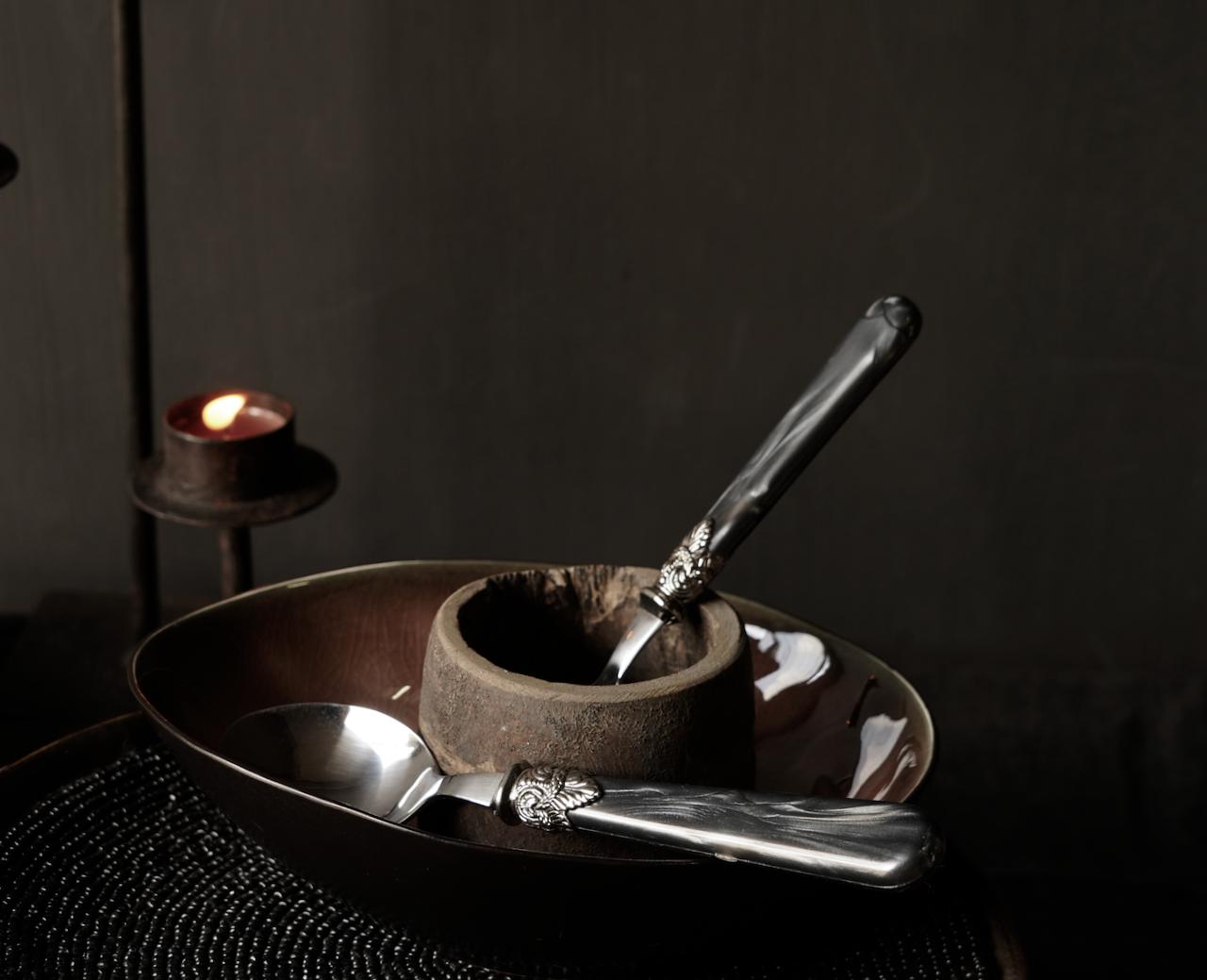 Kuchenserver & Kuchenmesserset von 2 Vintagen Design-5