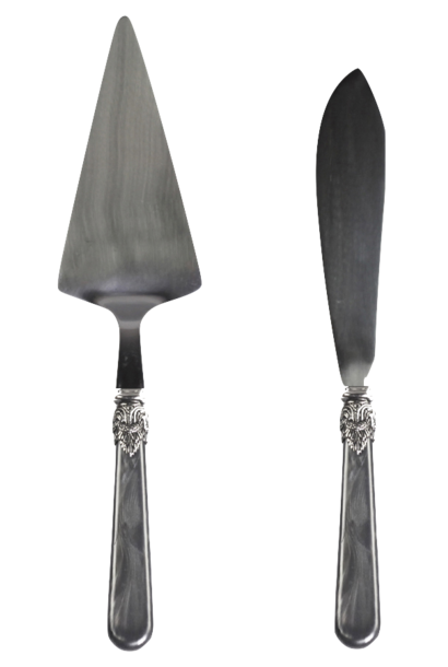 Cake server & cake knife set of 2 vintage design